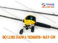 Bộ cần lure Máy Ngang Daiwa AIRX702MHFB + máy ngang tay Trái GW