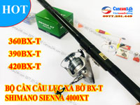Bộ cần câu lục Xa bờ Superpro BX-T 360-390-420 + Máy câu Shimano Sienna 4000XT