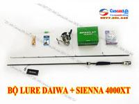Bộ cần câu lure cá lóc Daiwa AIRX 2.1m + Máy câu Shimano Sienna 4000XT