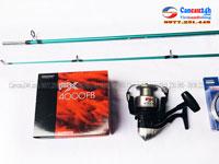 Bộ cần câu máy shimano 2.1m + máy câu cá shimano FX4000FB tặng phụ kiện