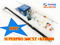 Bộ cần câu lục Superpro 360 CXT, cần câu superpro Máy câu yolo KFB