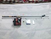 Bộ cần câu lure Shimano 2.1m, Cần câu mồi giả câu cá quả máy đứng