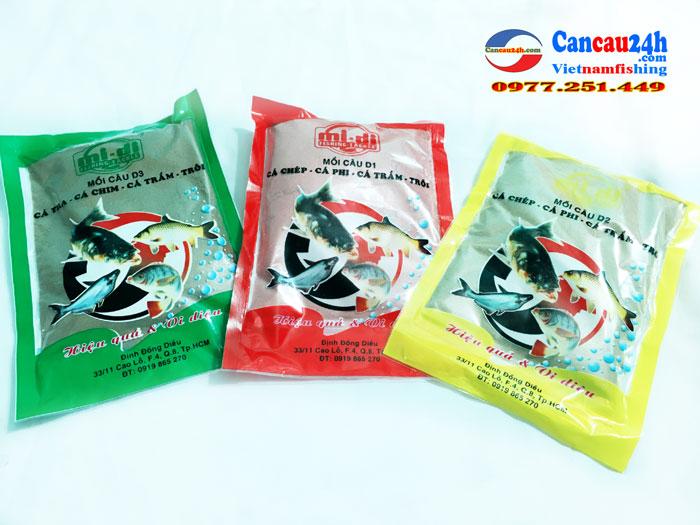Cám câu cá D2 Định Đồng Diều, Mồi câu cá D2