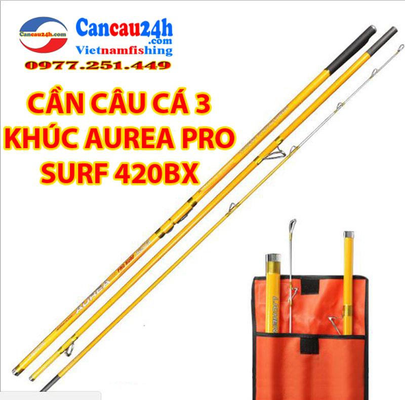 Cần câu 3 khúc AUREA PRO SURF 420-BX, Cần câu vàng 420BX