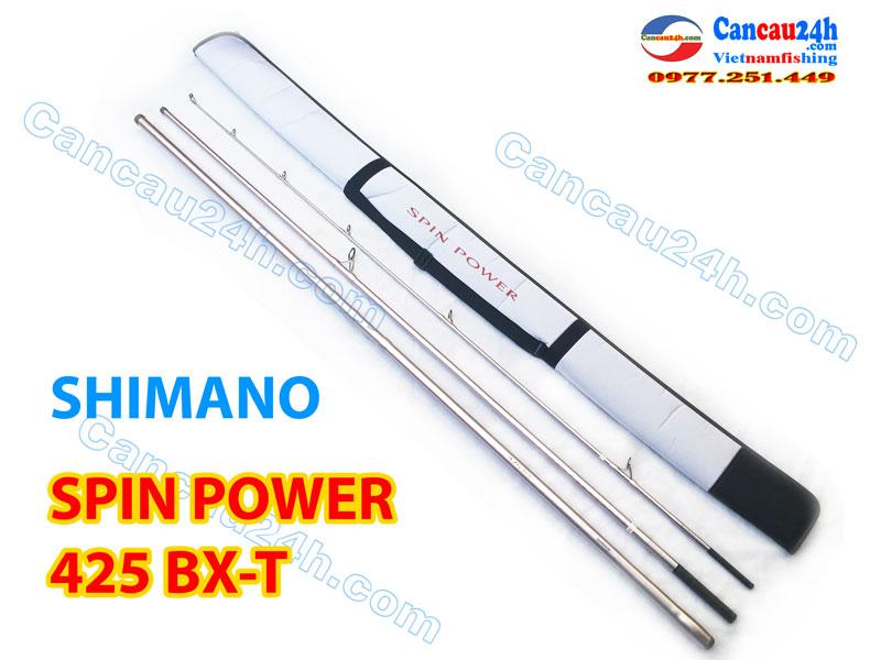 Cần câu 3 khúc Shimano Spin Power 425BX Phấn Hồng Chính hãng Nhật Bản