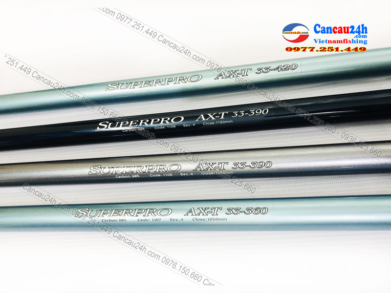 Cần câu lục Xa Bờ Superpro AXT 33-360-390-420, Superpro 360AXT-390AXT-420AXT