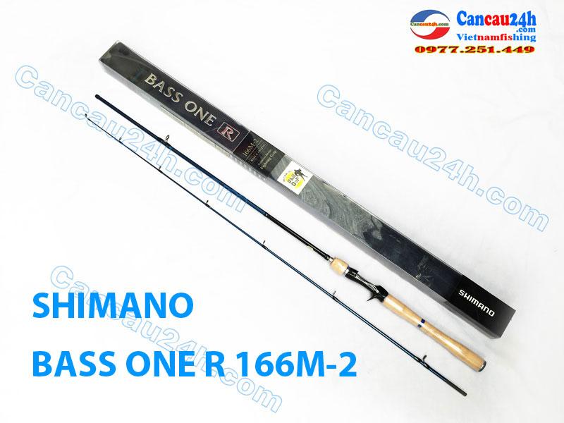 Cần câu lure Máy ngang Shimano Bass one R 166M2, cần câu lure cá lóc