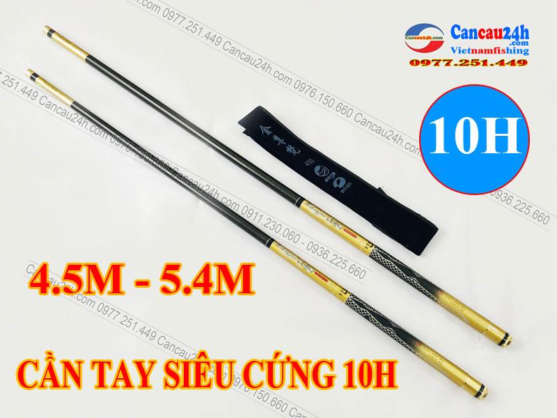 Cần câu tay siêu cứng 10H Heikenggun 4.5M - 5.4M Cần câu Đơn SĂN HÀNG KHỦNG