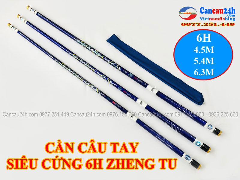 Cần câu Đơn Siêu Cứng câu Đơn Câu Đài 6H ZHENG TU 4.5m - 5.4M - 6.3M