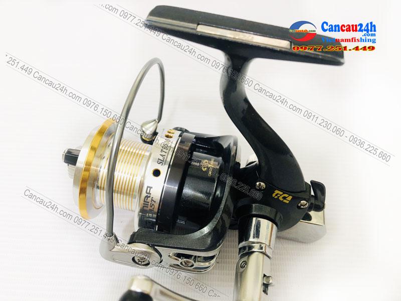 Máy câu cá TICA Longcast SLAT 5000, lô Nông thoát cước baitrunner xả nhanh