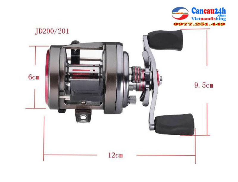 Máy câu cá ngang tay trái JD201, Máy câu cá ngang biển