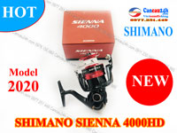 Máy câu cá Shimano Sienna 4000HD, Máy câu Sienna 4000HD mẫu mới new 2020