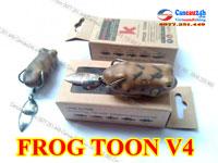 Mồi câu lóc Frog Toon V4, mồi giả Thái Lan Frog Toon V4 câu cá chuối