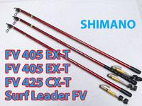 Cần câu Bãi Shimano Đỏ Surf Leader Fv 405 EXT và 425 CX-T