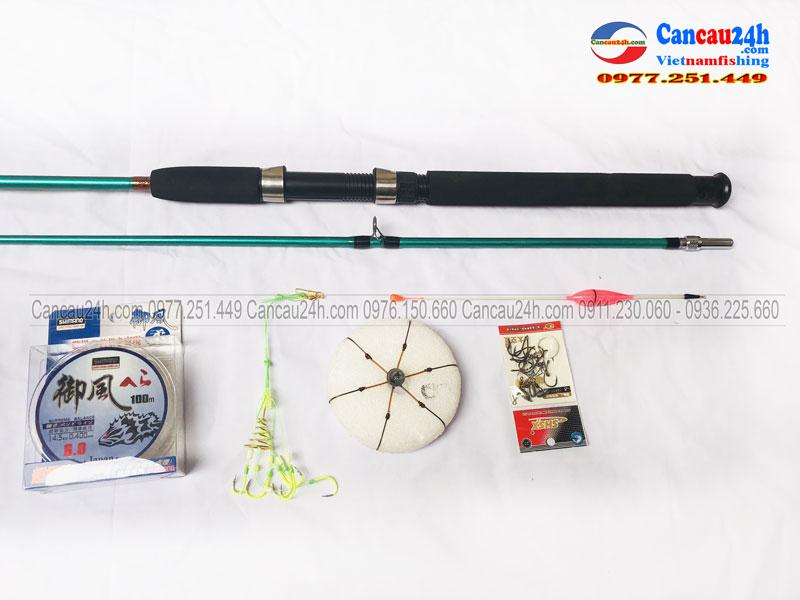 Bộ cần câu lancer đặc 2 khúc shimano + máy câu Yolo TFC5000