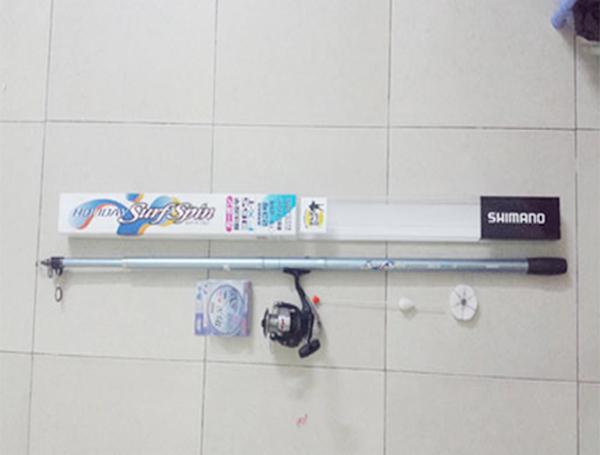 Bộ cần câu cá shimano Holyday Surf Spin 3.65FX-T