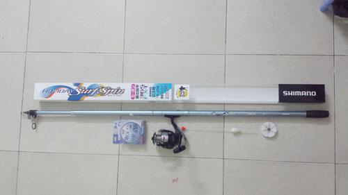 Bộ cần câu cá shimano holyday 3.65m +máy câu shimano FX4000FB