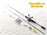 Bộ cần câu cá lóc Kaifa 2.1m + máy câu cá Ngang Full phụ kiện