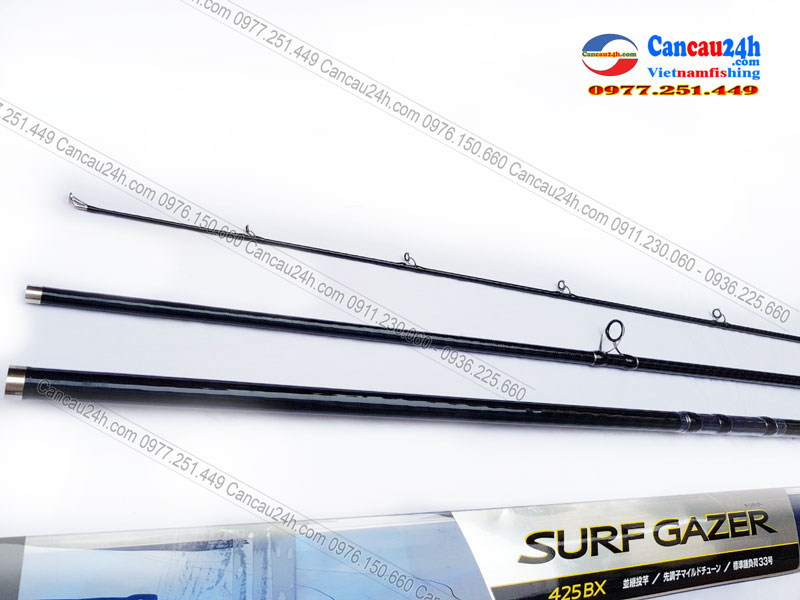 Cần câu 3 khúc shimano SURF GAZER 425BX - cần câu lục xa bờ 425BXT