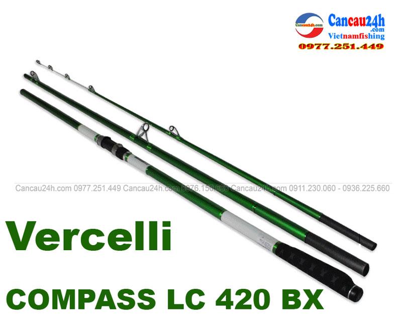 Cần câu lục xa bờ 3 khúc Vercelli COMPASS LC 420BX