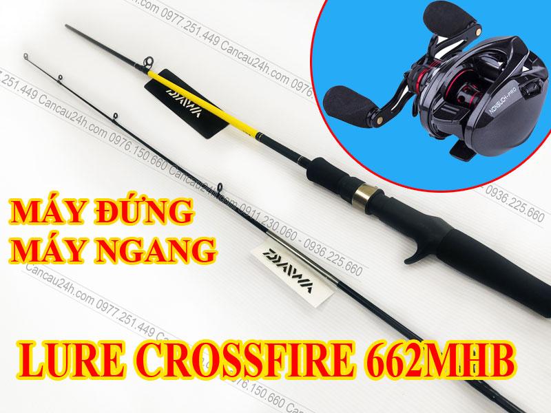 Cần câu máy ngang Daiwa Crossfire 662MHB, cần câu cá ngang Crossfire 662MHB
