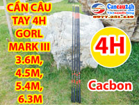 Cần câu tay 4h Gold Mark III 3.6m, 4.5m, 5.4m, 6.3m